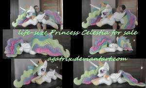 Life-size Princess Celestia plush for sale