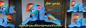 Life-size(laying down) Rainbow Dash plush sold