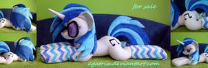 Life-size (laying down) DJ Pon-3 plush SOLD