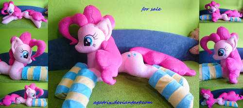 Life size (laying down) Pinkie Pie plush by agatrix