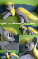 Life size (laying down) Derpy plush by agatrix