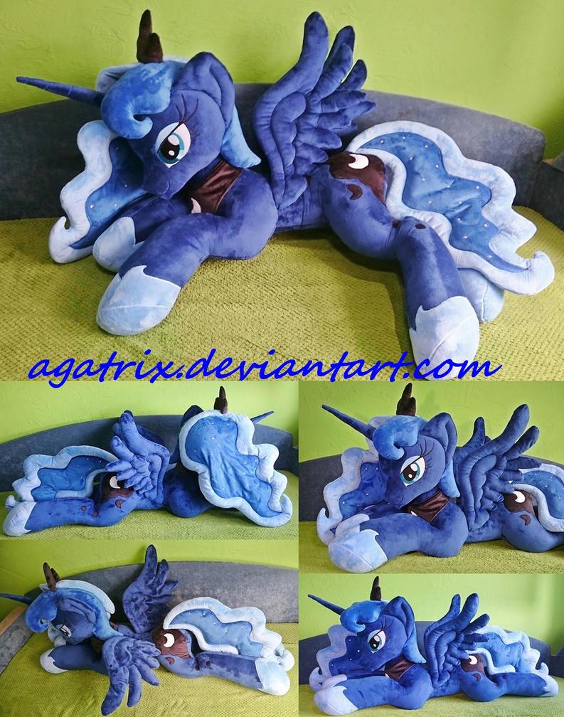 Life-size (laying down) Princess Luna plush by agatrix