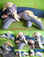 Life size (laying down) Derpy plush SOLD by agatrix