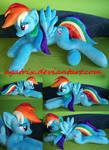 Life size (laying down) Rainbow Dash plush