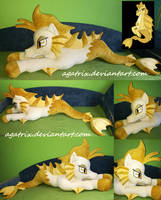 Life size (laying down) Adagio Siren plush by agatrix