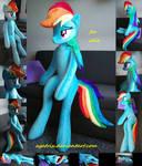 Life size (sitting/laying down) Rainbow Dash plush