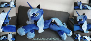Life-size (laying down) Princess Luna SE1 plush by agatrix