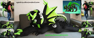 <b>Life Size (laying Down) OC DarkyHooves Plush</b><br><i>agatrix</i>