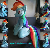 <b>Life Size (sitting) Rainbow Dash Plush</b><br><i>agatrix</i>