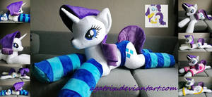 Life size (laying down) Rarity plush