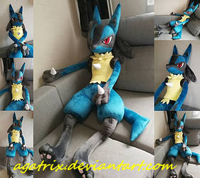 Life size (160cm) Pokemon Lucario plush