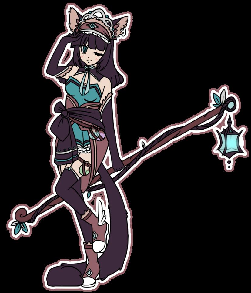 Kira Kira Witchsona by MidnightSukioma