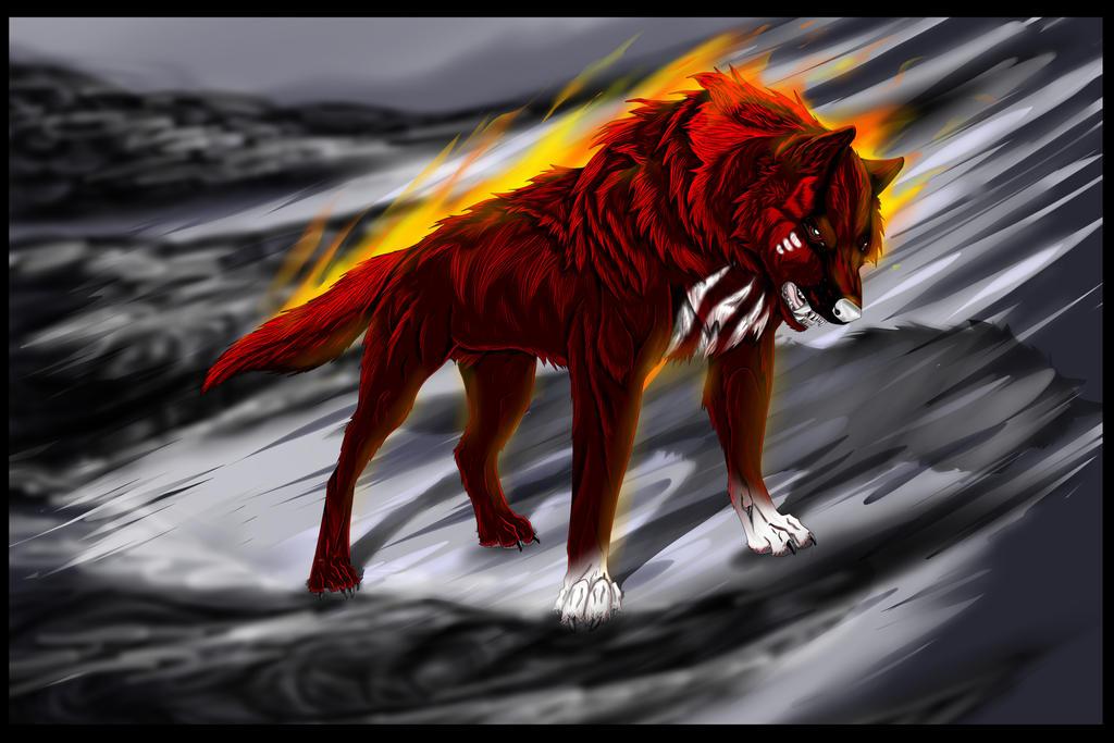 Akai fire by BlackArtsWolf13