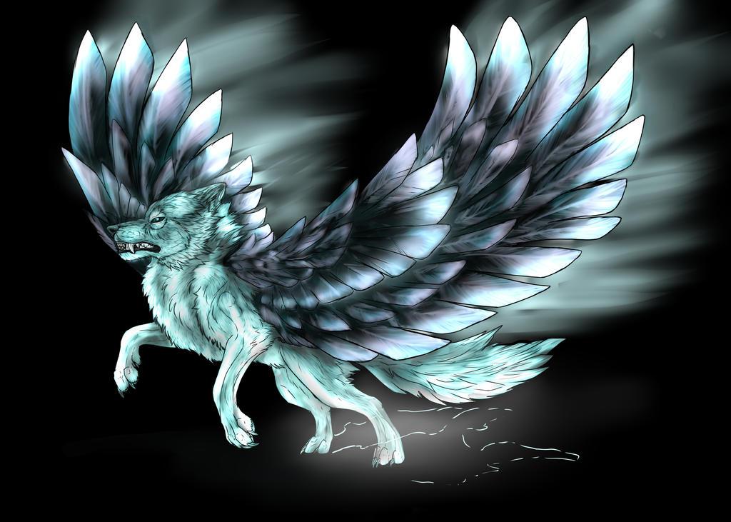 Winged wolf by fiire13 on deviantart for Buy digital art online