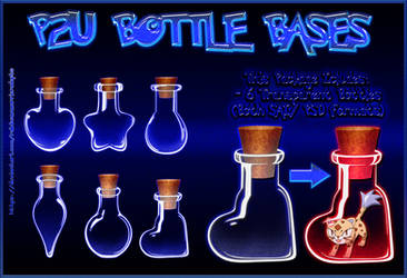 P2U Bottle Bases [3 USD] by RainbowWarriorAdopts