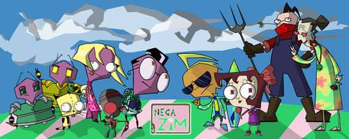 Nega-Zim Group Shot of Doom by nehdeen