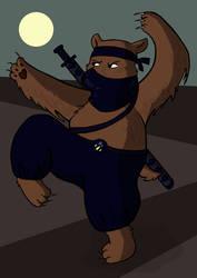 Stealth Ninja Bear by nehdeen