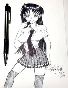 Ball point pen sketch