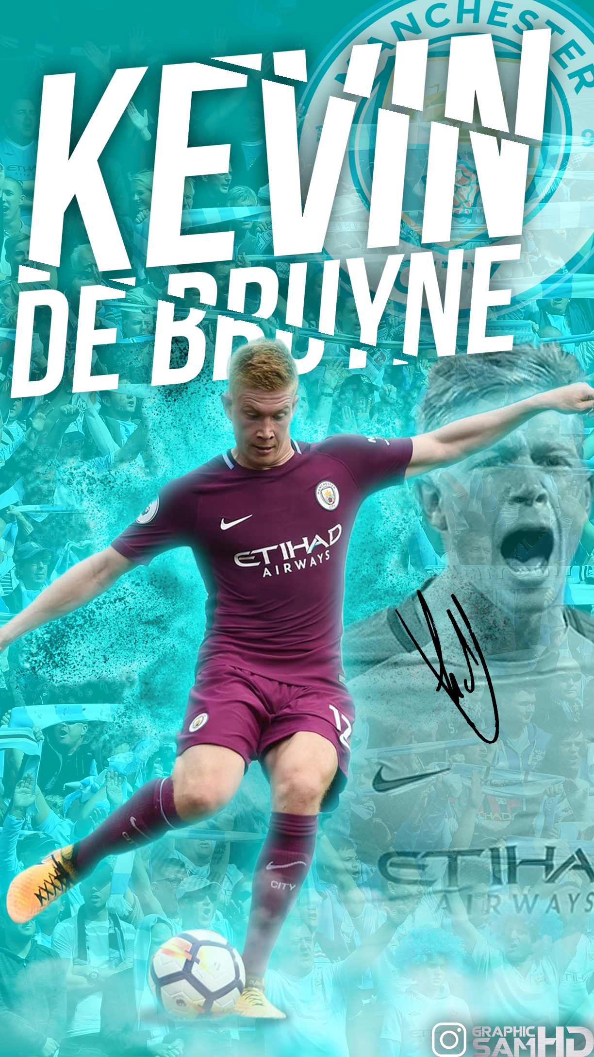 Kevin de Bruyne Phone Wallpaper 2017/2018 by GraphicSamHD ...