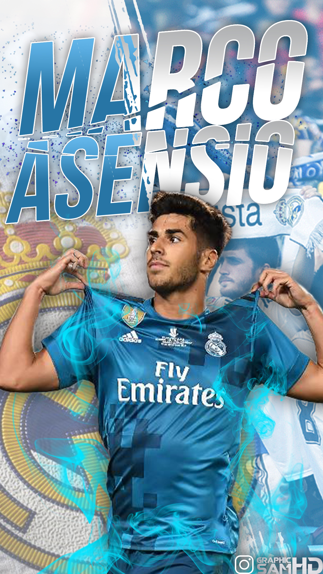 Marco Asensio Phone Wallpaper 2017/2018 by GraphicSamHD on ...