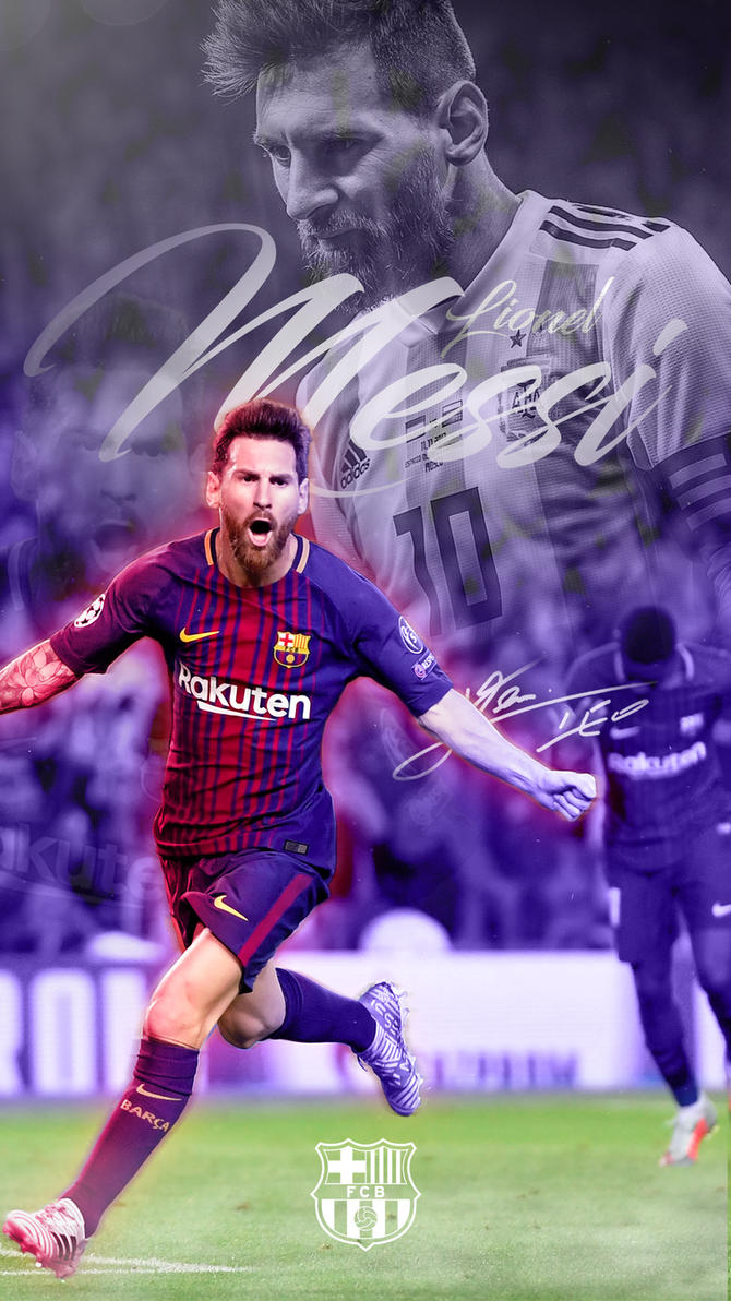 Lionel Messi Phone Wallpaper 2017 2018 By GraphicSamHD
