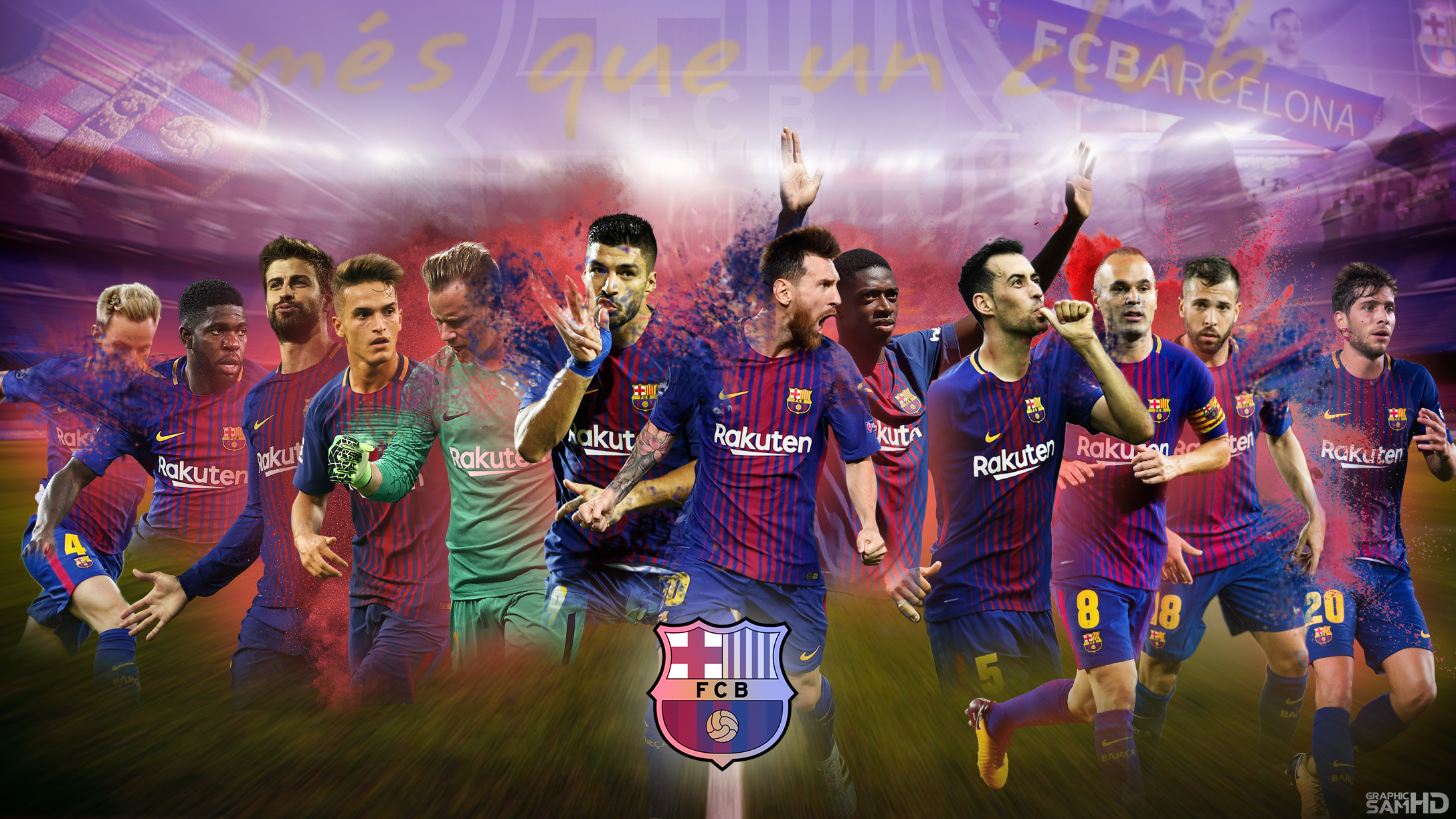 Fc Barcelona Desktop Wallpaper 2017 2018 By Graphicsamhd On Deviantart