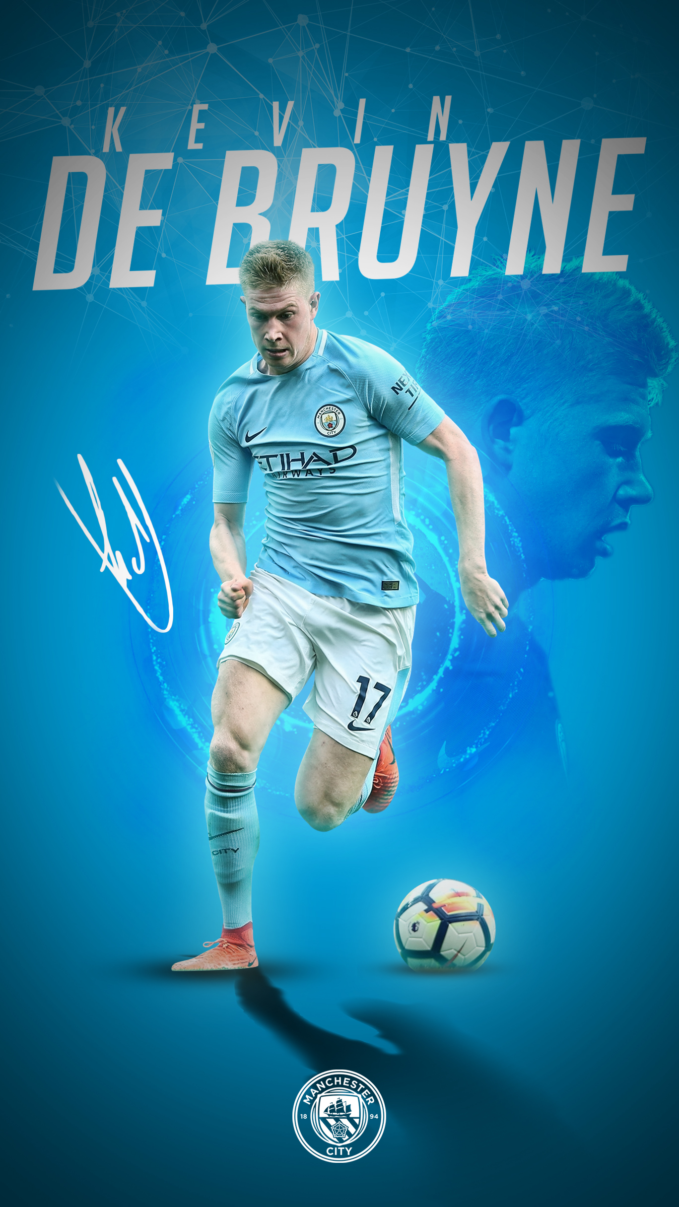 Kevin De Bruyne Phone Wallpaper 20172018 By Graphicsamhd On