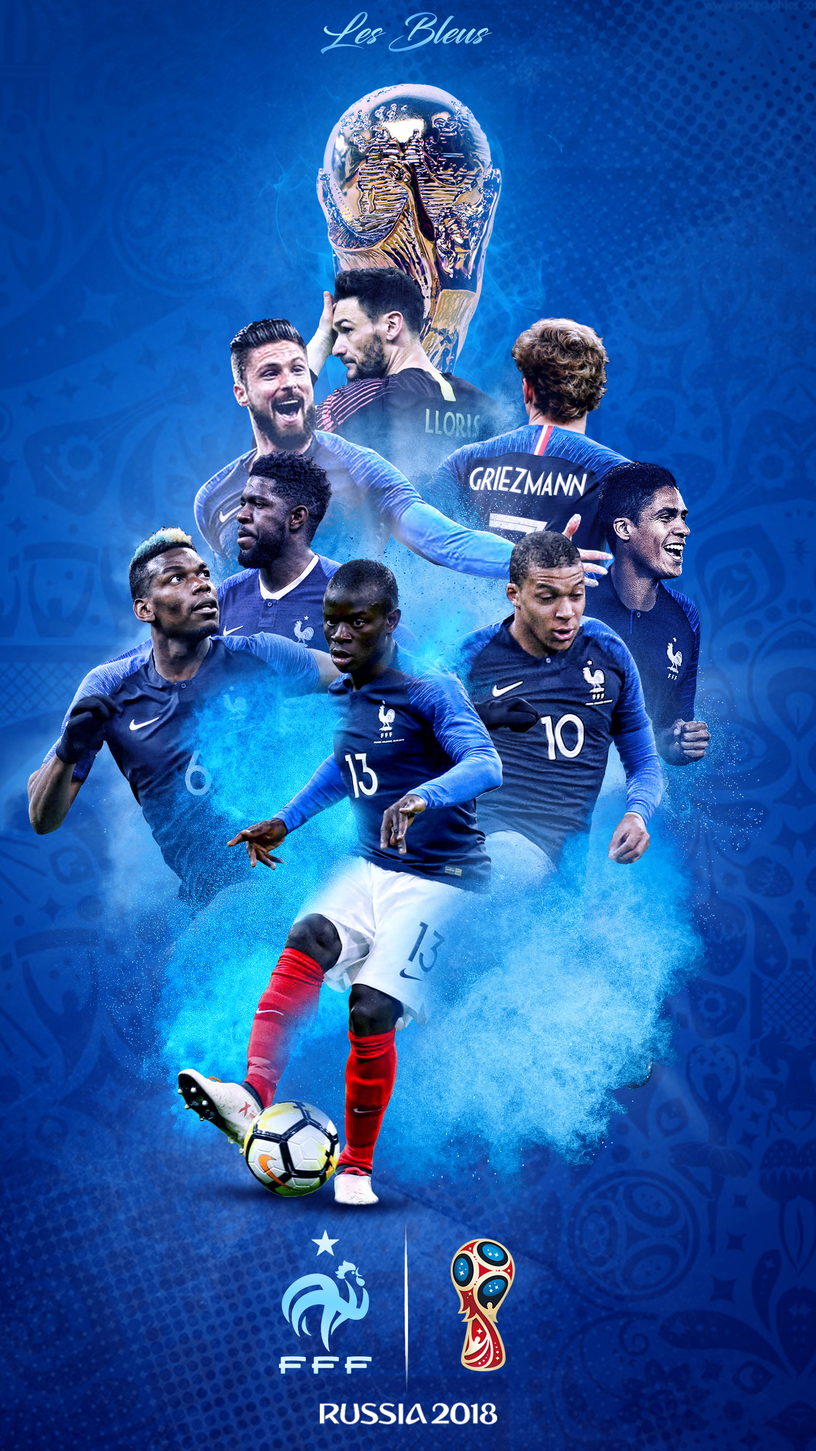France World Cup 2018 Russia Phone Wallpaper by GraphicSamHD on DeviantArt