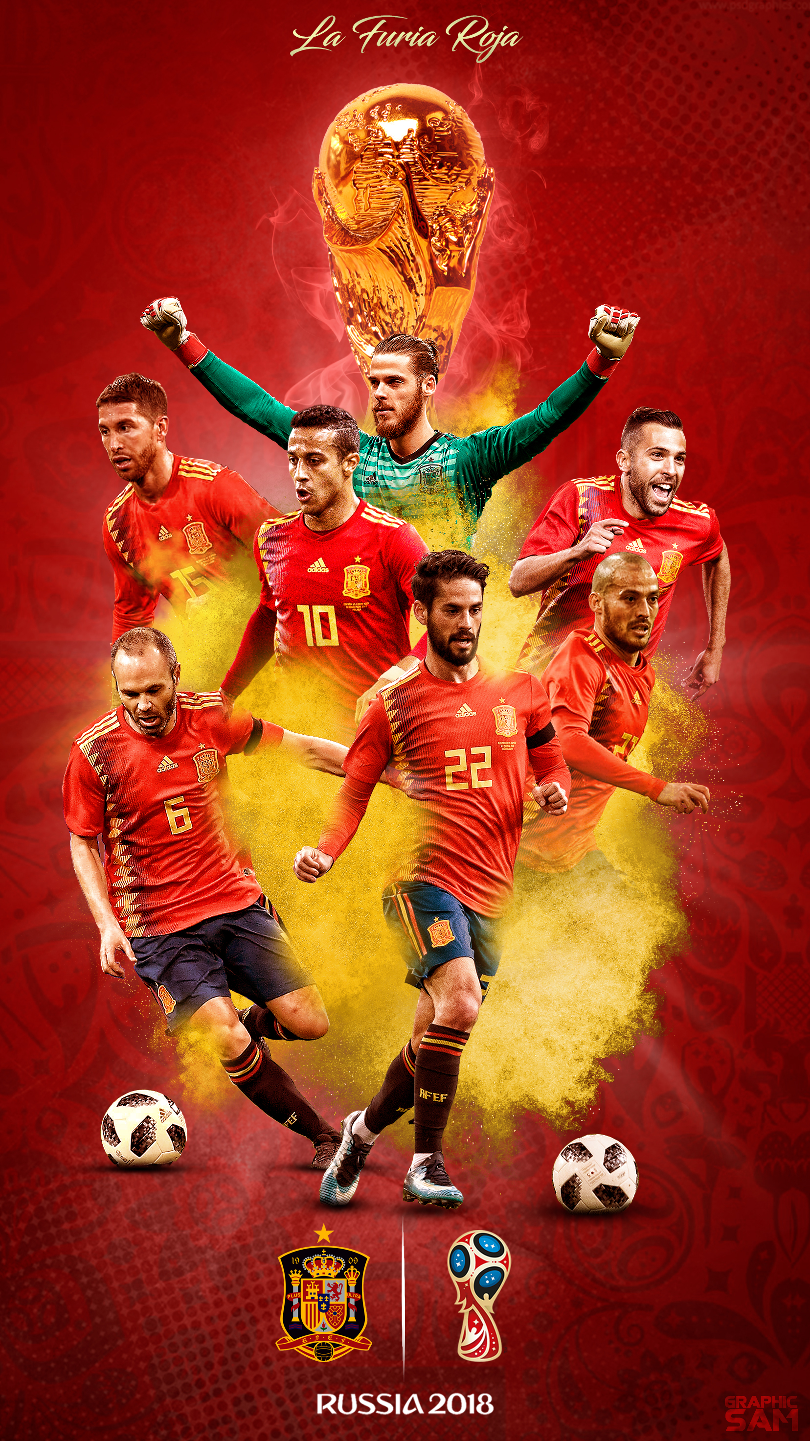 Spain World Cup 2018 Phone Wallpaper By Graphicsamhd On