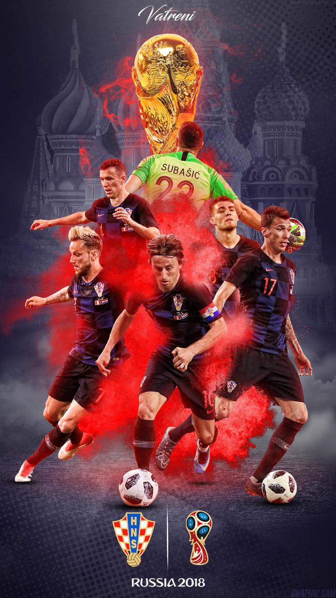 Croatia World Cup 2018 Phone Wallpaper by GraphicSamHD