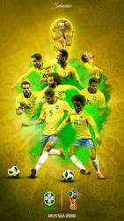 Brazil World Cup 2018 Phone Wallpaper