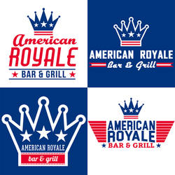 American Royale Bar And Grill Logo Study by ALMcInnis
