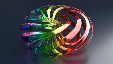 Glass Torus Sculpture