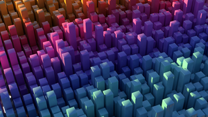 Abstract Voxel Wallpaper