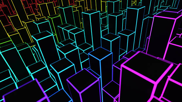 Abstract Neon Landscape