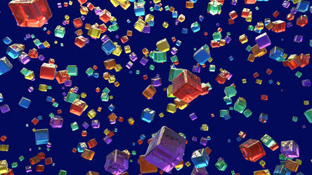 Abstract Glass Cubes
