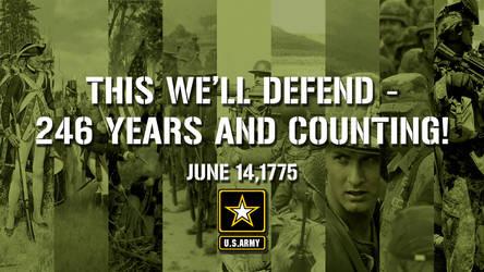 U.S Army Birthday Poster