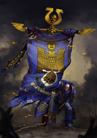 Ultramarines 2nd comapny banner by Nord-Sol