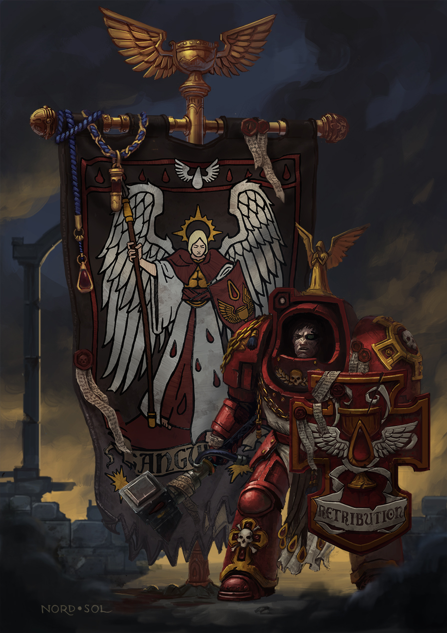 Warhammer 40k death company wallpaper -  Blood Angels 1st Company By Nord Sol