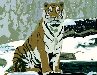 vector tiger by uncertain-certainty
