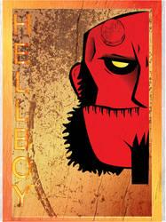 Vintage Poster Hellboy by iagolx