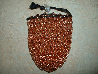 Copper chainmail dice bag by Ojive
