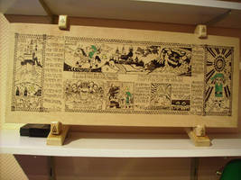 The Legend of Zelda in pyrography