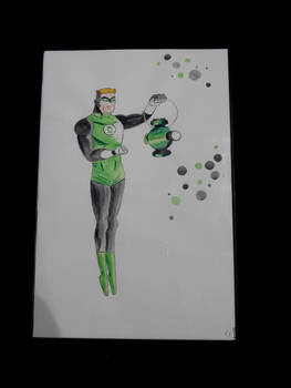 Reproduction of a Green Lantern drawing