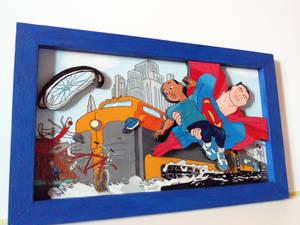 Superman in relief