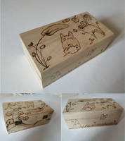 Totoro Box in pyrography
