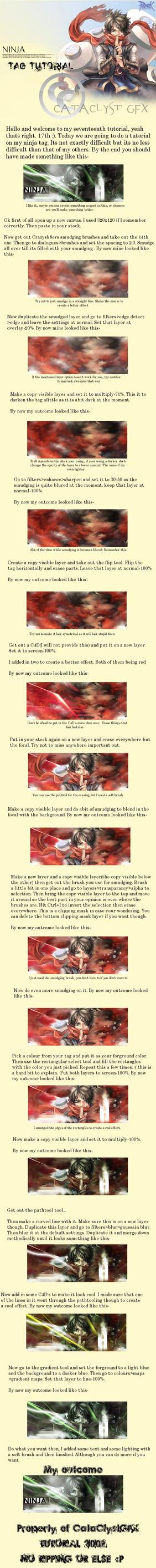-GIMP- Ninja tag tutorial by zenron