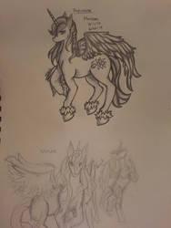 Horse Practice #1: Alicorn by Akuma-Mana61