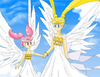 Mother Daughter - Sailor Moon Screencap redraw by 8Rini8