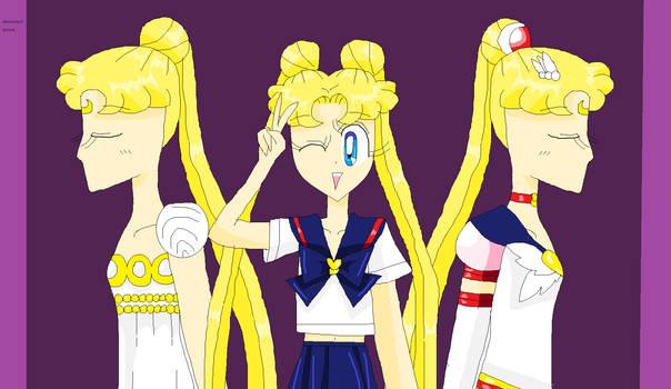 Usagi's different faces